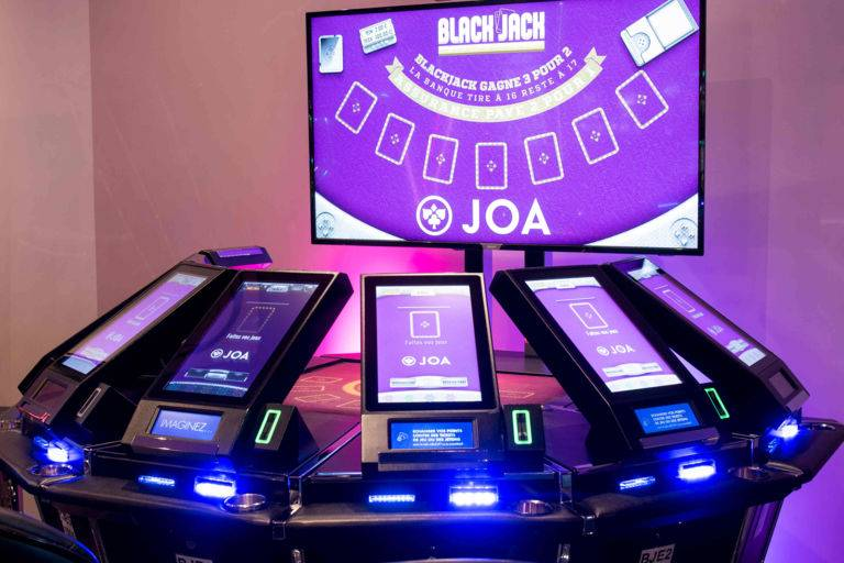 Black jack électronique casinos JOA