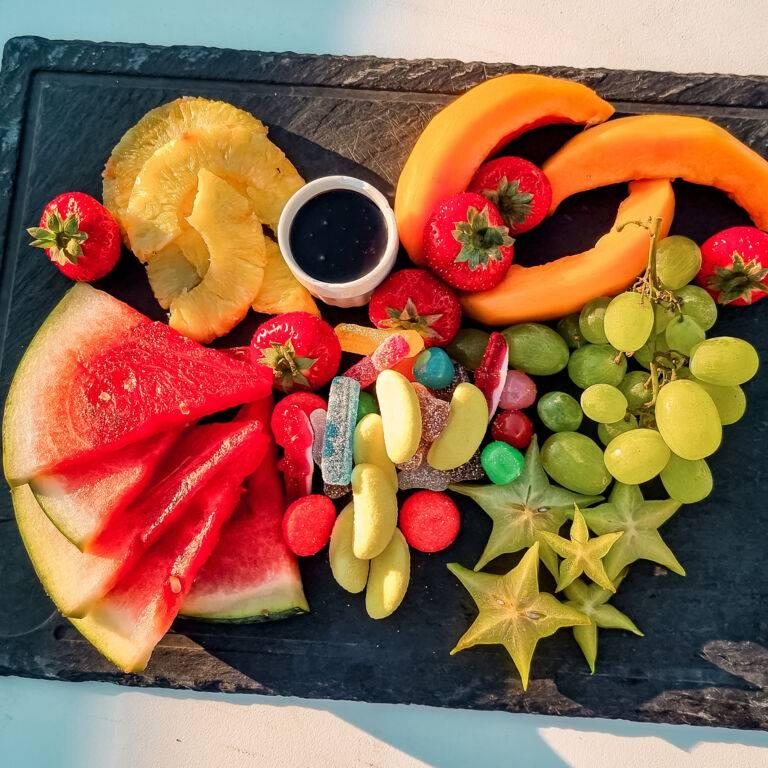 Siesta Beach Club 2021 planche fruits