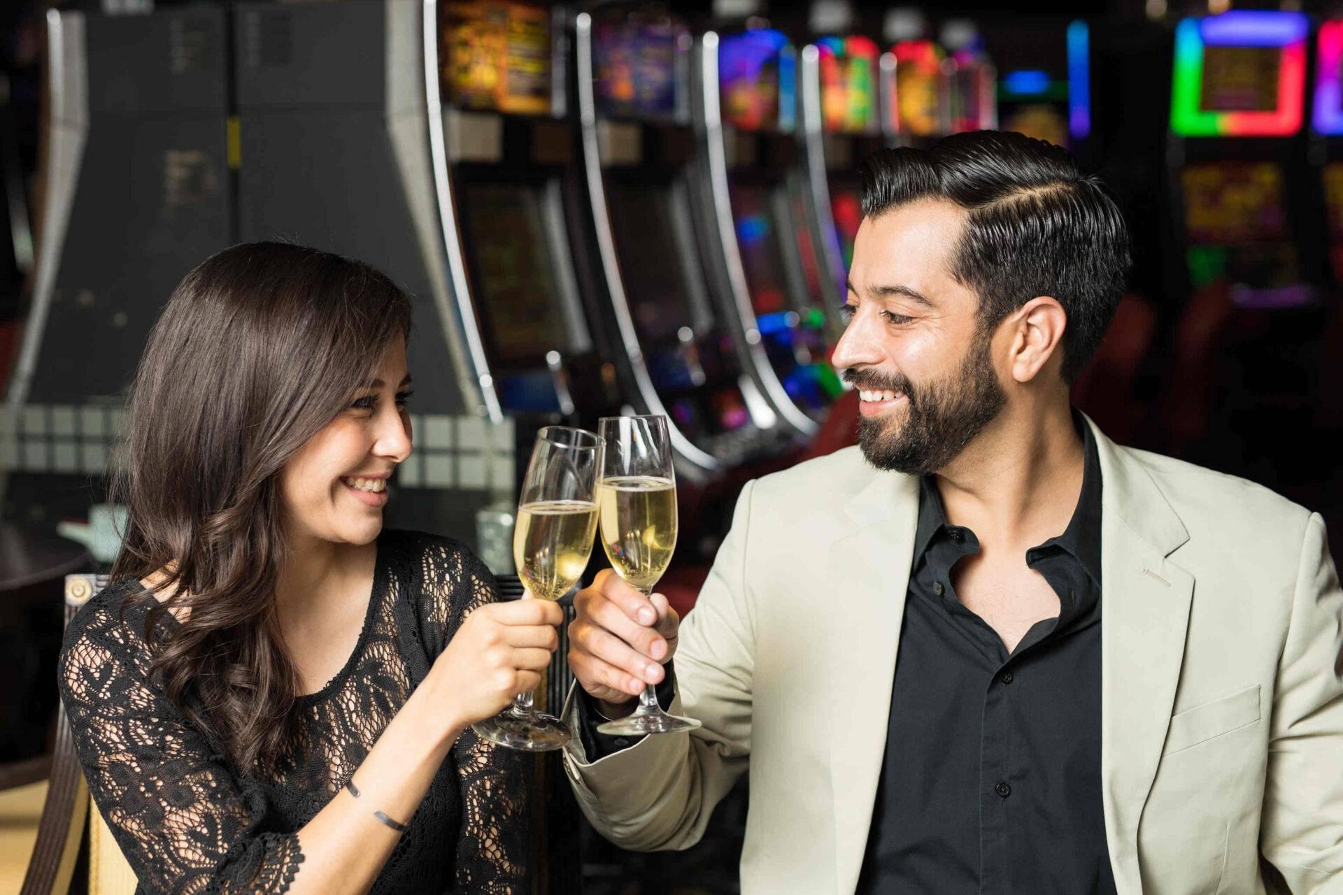 Soirée amoureux champagne casino